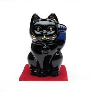 バカラ 招き猫 ミッドナイト 2-607-787|nihonnotsurugi