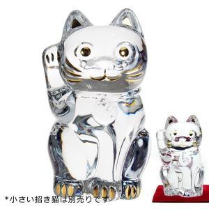 バカラ 招き猫 25cm クリア 2-803-413 (証明書付)|nihonnotsurugi