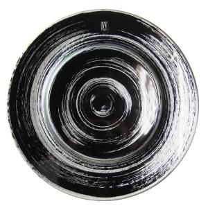 IVV社 パタゴニア プレート ブラック/シルバー 32cm 6685/18(19)|nihonnotsurugi