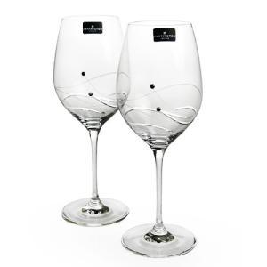 ダーティントン GLITZ ワイングラス 360ml  ペア|nihonnotsurugi