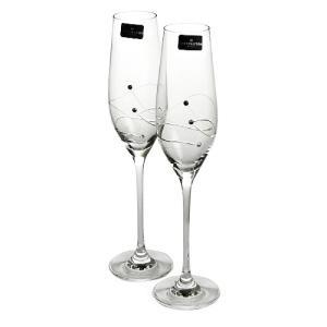 ダーティントン GLITZ シャンパンフルート 210ml ペア|nihonnotsurugi