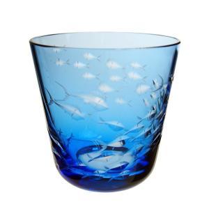 ロターグラス シーライフ Fischschwarm タンブラー (M) アクア|nihonnotsurugi
