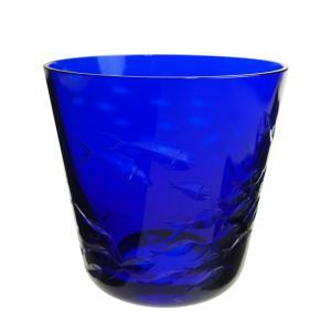 ロターグラス シーライフ Fischschwarm タンブラー (M) ブルー|nihonnotsurugi