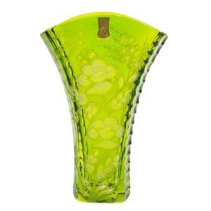 マイセンクリスタル (Meissen Crystal) サマータイム 色被せ花瓶グリーン 1490/24cm nihonnotsurugi