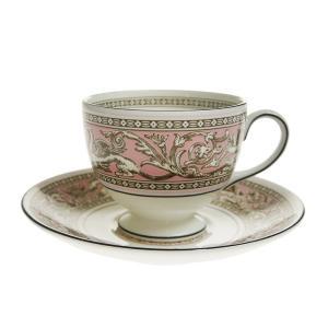 ウェッジウッド フロレンティーンピンク ティーカップ&ソーサー リー|nihonnotsurugi