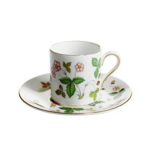 ウェッジウッド ワイルドストロベリー コーヒーカップ&ソーサー ボンド|nihonnotsurugi