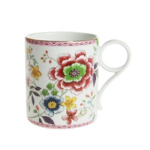 ウェッジウッド アーカイブ ピンク クリサンセマム マグカップ マットゴールド|nihonnotsurugi