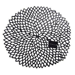 チルウィッチ ダリア フローラル プレイスマット ブラック 36x39cm / 包装不可|nihonnotsurugi