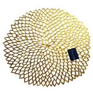 チルウィッチ ダリア フローラル プレイスマット ゴールド 36x39cm / 包装不可|nihonnotsurugi