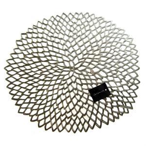 チルウィッチ ダリア フローラル プレイスマット ガンメタル 36x39cm / 包装不可|nihonnotsurugi