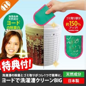BIG ヨードで洗濯槽クリーン+ゴミ取り メイダイ ヨードで洗濯槽クリーン BIGサイズ 洗濯ゴミ取り 洗濯槽掃除 ヨード除菌とゴミ取りの1個2役|nihontuuhan
