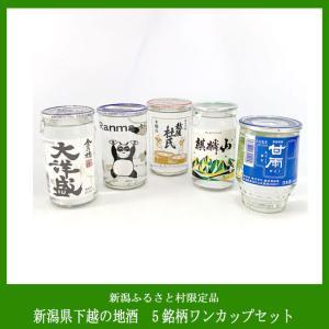 新潟ふるさと村限定 下越ワンカップ飲み比べセット(5本)|niigata-furusatowari