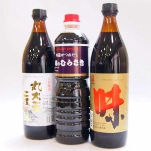 越のむらさき 醤油3本セット (むらさき・味・丸大豆二度) 720ml×3本|niigata-furusatowari