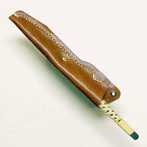 切り出し小刀 2分 籐巻き & 本革製専用ケース セット|niigata-honmono