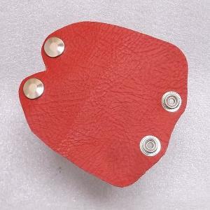 ギターケース用本革製グリップ(ハンドル)カバー 赤 送料無料・代引不可|niigata-honmono