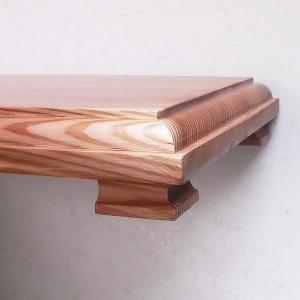 国産けやき・無垢材の木肌と木目が美しくやさしい! 「花台」(国産けやき使用) 吉建製作|niigata-honmono