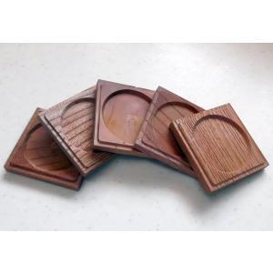 国産けやき・無垢材の木肌と木目が美しくやさしい! 「くぼみ付き・両面コースター」(国産けやき使用)5枚セット 吉建製作|niigata-honmono