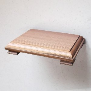 国産杉・無垢材の木肌と木目が美しくやさしい! 「花台」(国産杉使用) 吉建製作|niigata-honmono