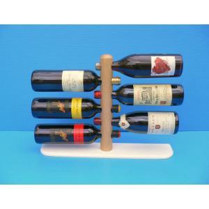 ワインボトルをオシャレに収納! ワインボトルラック・ポール6本用 越乃工芸製作|niigata-honmono