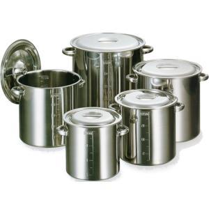 18-8ステンレス寸胴鍋目盛付24cm 蓋付 11L|niigata-kitchen