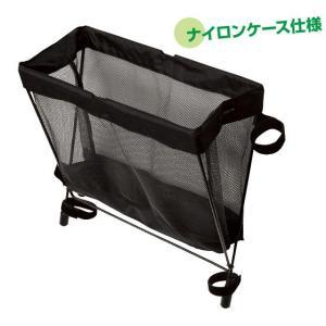 サイドバッグレスト ブラック 椅子装着型ナイロンケース|niigata-kitchen