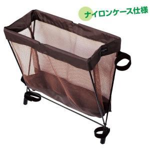 サイドバッグレスト ブラウン 椅子装着型ナイロンケース|niigata-kitchen