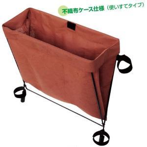 サイドバッグレスト ブラウン 椅子装着型不織布ケース|niigata-kitchen