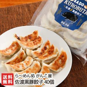 佐渡黒豚餃子 40個/ら〜めん処 がんこ屋/送料無料|niigata-shop