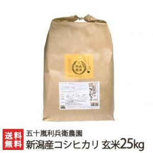 30年度米 新潟産 炊きあがりが楽しみになるコシヒカリ 玄米25kg(25kg×1)五十嵐利兵衛農園/お中元ギフト/のし無料/送料無料|niigata-shop
