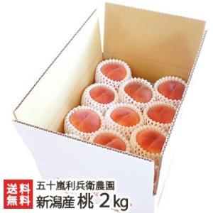 新潟県産 桃 利兵衛のとびっきり桃 2kg(6〜8個位)/お中元ギフト/のし無料/送料無料|niigata-shop