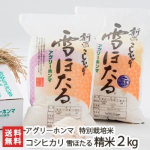 30年度米 新潟産コシヒカリ 雪ほたる 精米2kg 白米 特別栽培米/送料無料|niigata-shop