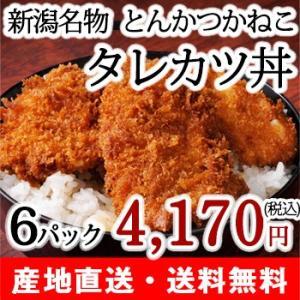 【送料無料】タレカツセット6パック(6人前) 秘伝のタレ付/新潟定番の味