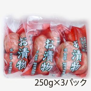 老舗の漬物 赤かぶの甘酢漬け3パック(1パック250g) 赤かぶ/漬物/甘酢漬け/送料無料 niigata-shop