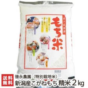 令和元年度新米 新潟産 特別栽培米 こがねもち 精米2kg 徳永農園 もち米/ギフト お祝い 贈り物 のし無料 送料無料|niigata-shop