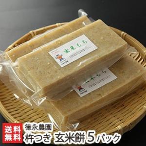 新潟産こがねもちの杵つき餅 玄米餅5パック(1パック8切れ入り) 徳永農園 正月用に/無添加/お中元ギフト/のし無料/送料無料|niigata-shop