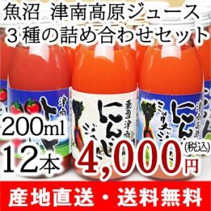 津南高原ジュース 詰め合わせセット 200ml×12本 フジミヤ/雪下人参/野菜ジュース/お中元ギフト/のし無料/送料無料|niigata-shop