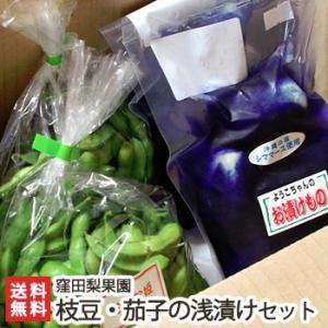 新潟産 枝豆2kg+茄子の浅漬け500gセット 窪田梨果園/ギフト プレゼント お祝い 贈り物 のし無料 送料無料|niigata-shop
