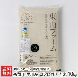 30年度米 新潟 糸魚川早川産 特別栽培米コシヒカリ 玄米10kg(5kg×2袋)東山ファーム/のし無料 送料無料 niigata-shop