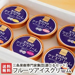 フルーツアイスクリーム選べる詰め合わせ 6個入(梨、ル・レクチェ、桃、ぶどう)/のし無料/送料無料|niigata-shop