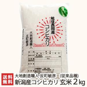 30年度米 新潟産コシヒカリ(従来品種)玄米 2kg(無農薬・無化学肥料)/お中元ギフト/のし無料/送料無料|niigata-shop
