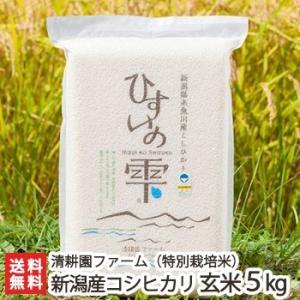 令和元年度新米 新潟 糸魚川産コシヒカリ「ひすいの雫」(特別栽培米)玄米 5kg/のし無料/送料無料|niigata-shop