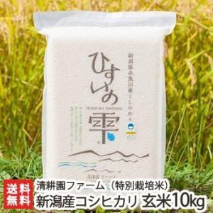 令和元年度新米 新潟 糸魚川産コシヒカリ「ひすいの雫」(特別栽培米)玄米 10kg(5kg×2)/のし無料/送料無料|niigata-shop