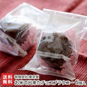 米Gelチョコブラウニー 6個入り 有限会社 東京堂/お米スイーツ/送料無料|niigata-shop