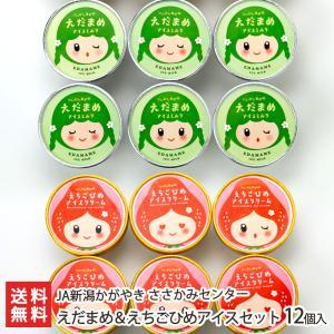えだまめ&えちごひめアイスセット 12個入(各6個)/JAささかみ/送料無料 niigata-shop