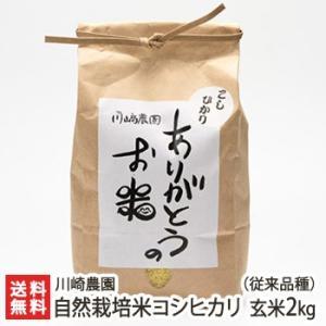 自然栽培米コシヒカリ(従来品種) 玄米2kg 川崎農園/のし無料/送料無料|niigata-shop