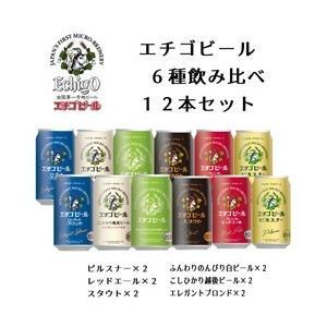 エチゴビール代表銘柄6種飲み比べ12本 送料無料 一部地域除く 地ビール クラフトビール ギフト お中元 御歳暮|niigata025