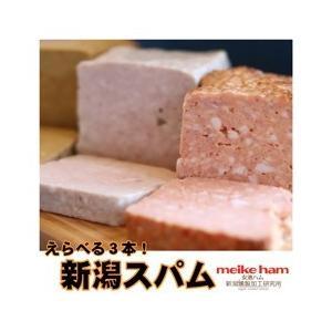 女池ハム 送料無料!選べるスパム3本セット!|niigata025