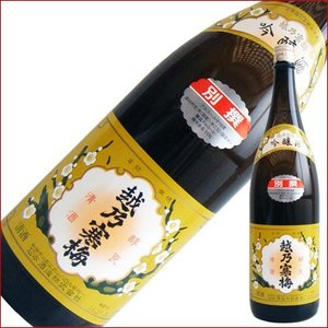 越乃寒梅 別撰 吟醸酒 1.8L 1800ml 日本酒|niigatameisyuoukoku