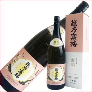 越乃寒梅 無垢 純米吟醸 1.8L 1800ml 日本酒|niigatameisyuoukoku