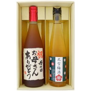 名入れ 梅酒 ギフト プレゼント セット 720ml 1本 500ml 1本 名前入り 新潟清酒仕込梅酒 + 北雪梅酒 niigatameisyuoukoku